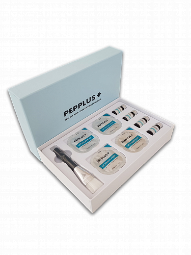 PEPPLUS+ Special skin care Lifting program 4 Пептидная двухкомпонентная маска для лица Суперлифтинг (набор на 4 процедуры) фото 2