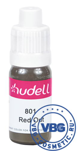 Hudell Pigment color for micropigmentation № 801 Red Out Пигмент для век Hudell, оттенок № 801 Рэд Аут