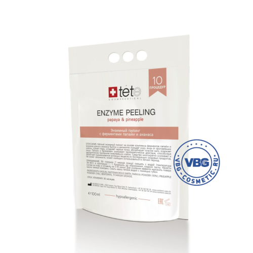TETe Enzyme peeling, 100 ml Энзимный пилинг с ферментами папайи и ананаса