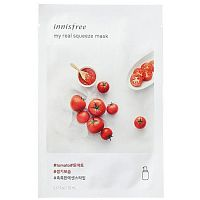 Innisfree Листовая маска для лица с экстрактом томата My Real Squeeze Mask Tomato