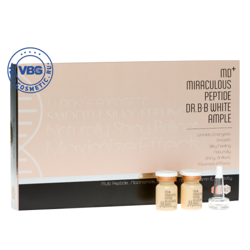 MD+ MIRACULOUS PEPTIDE DR.BB White Ample №21 10x5ml Сыворотка для bb glow, оттенок №21