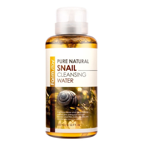 FarmStay Очищающая вода с муцином улитки Pure Natural Snail Cleansing Water