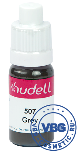 Hudell Pigment color for micropigmentation № 507 Grey Пигмент для век Hudell, оттенок № 507 Серый